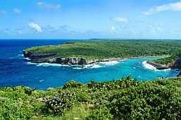 Falaises de la Porte de l'enfer en Guadeloupe