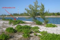 Lot4-6 bahamas land lot boundry marker