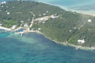 Aerial view of Bahamas land lot for sale