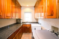 spaciuos kitchen galley