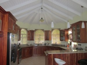 very large vaulted ceiling kitchen