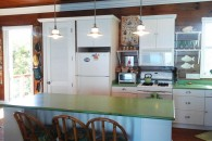 contemporary kitchen and island counter