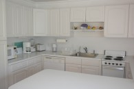 large white counter in kitchen
