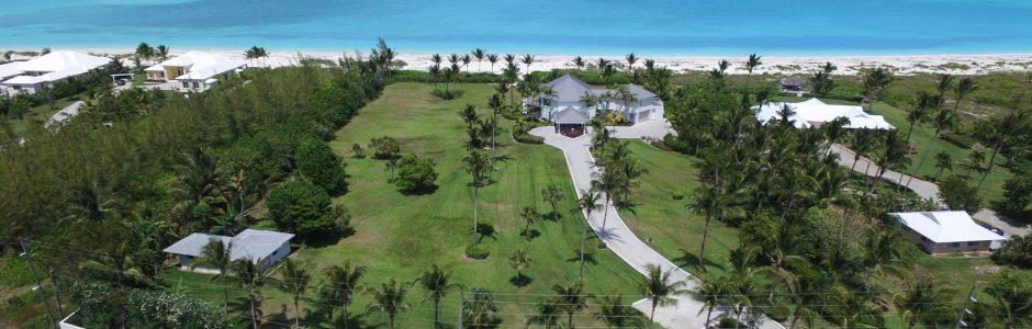 aerial view facing the ocean