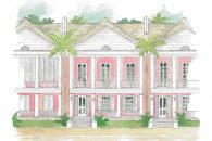 bahama townhouse illustration