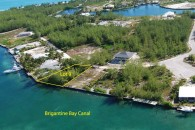 Bahamas canal land - aerial view