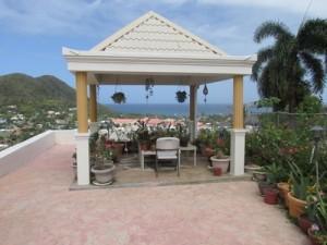 cabana overlooking the ocean