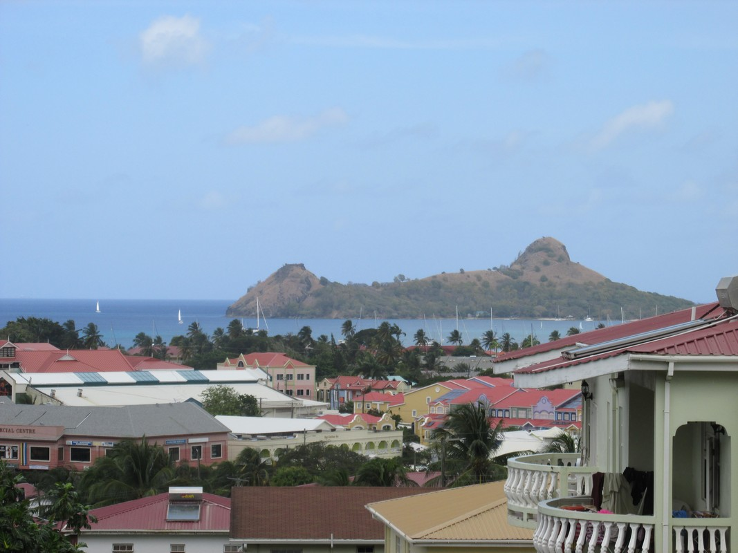 view of island from balcony