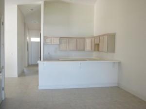 open spacious kitchen area