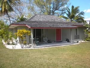 left corner view of the red door home