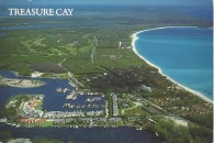 aerial view of treasure cay