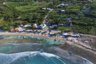 Buen Hombre Beach Image from Ocean Aerial